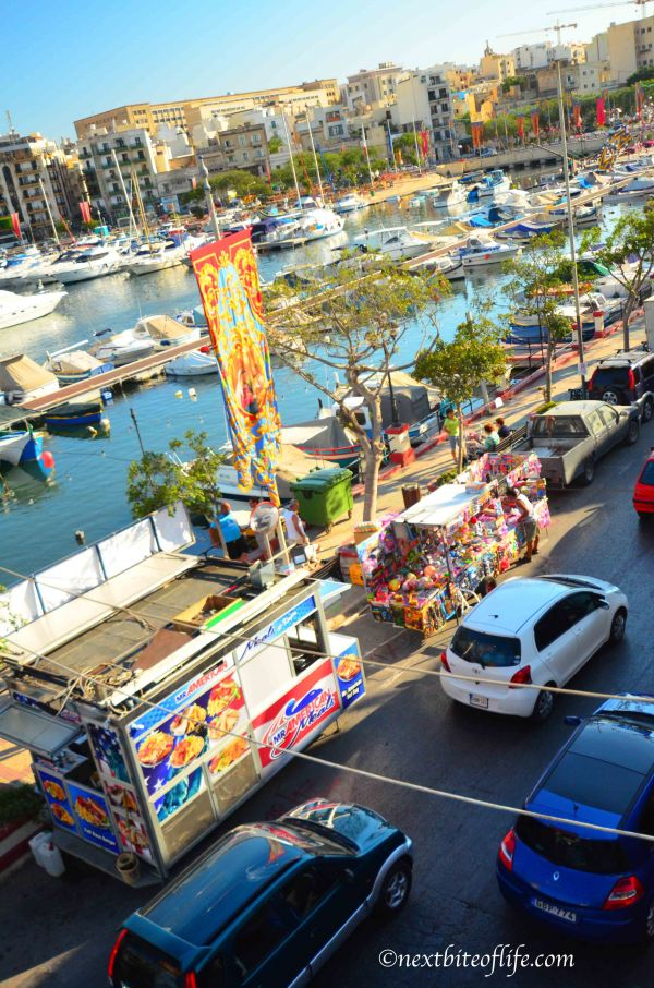 traffic hold up at the Msida Marina on feast of st joseph day