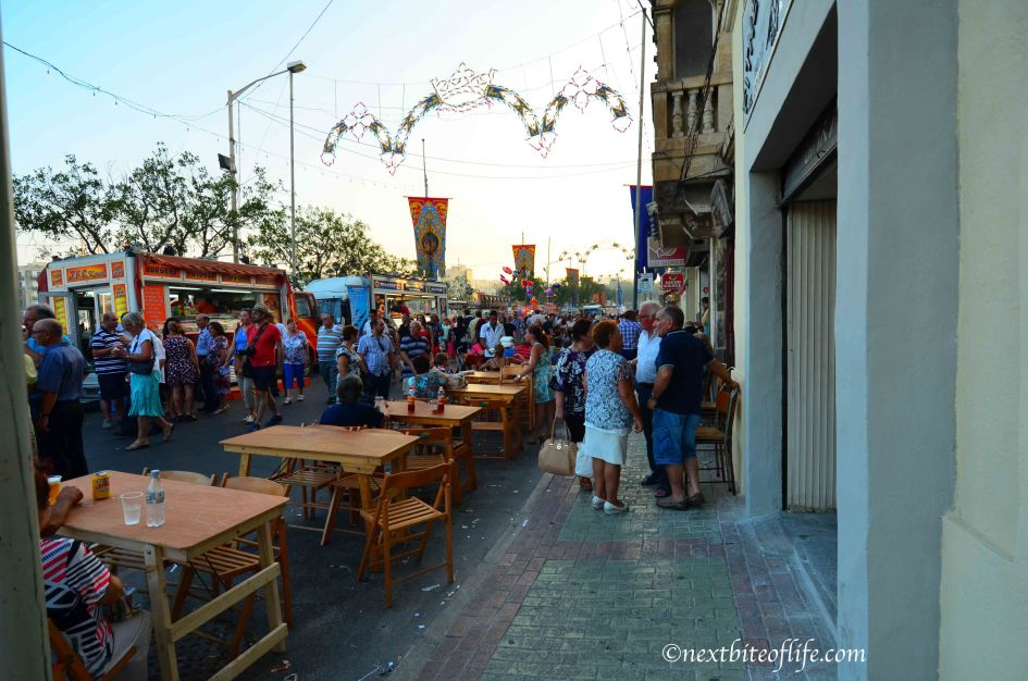 Street was closed off at night and became the patios of the restaurants