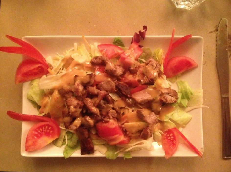 Duck breast salad. We totally indulged in all things duck!!!