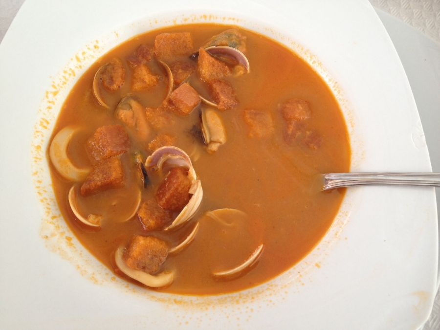 Stress in Malaga Yummy seafood soup