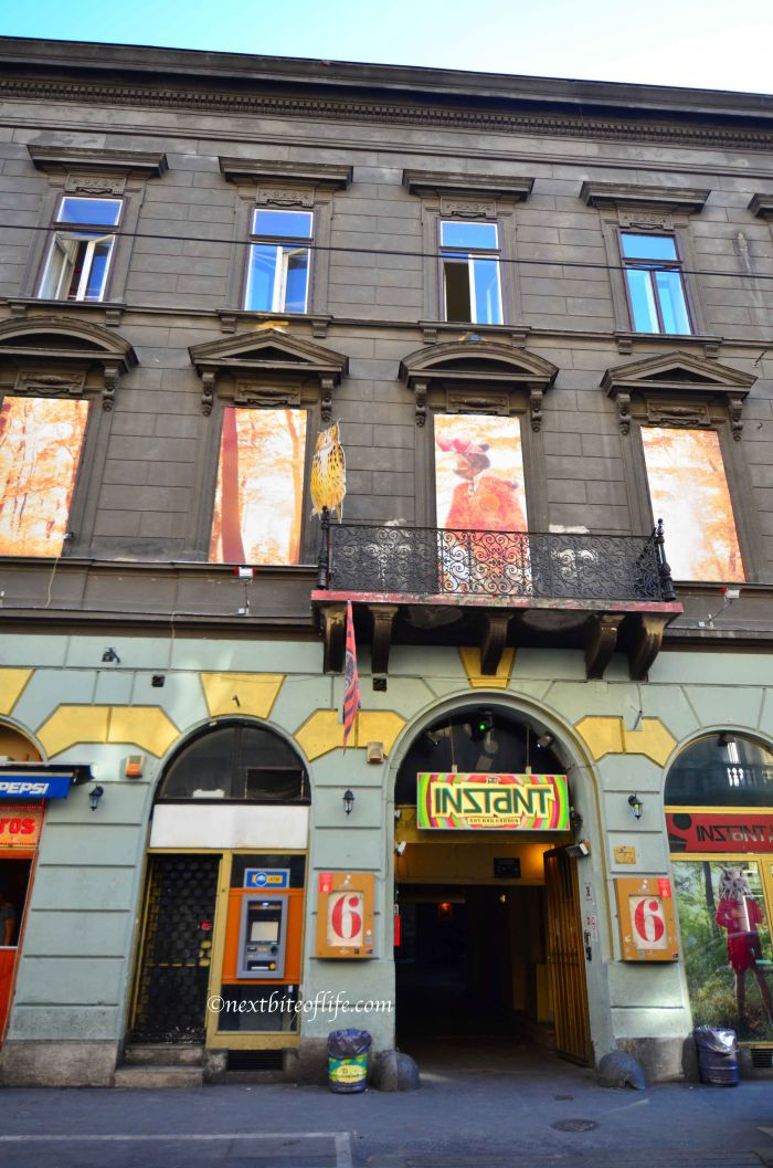 Instant ruin pub in Budapest, one of the places visited during our vacation home exchange