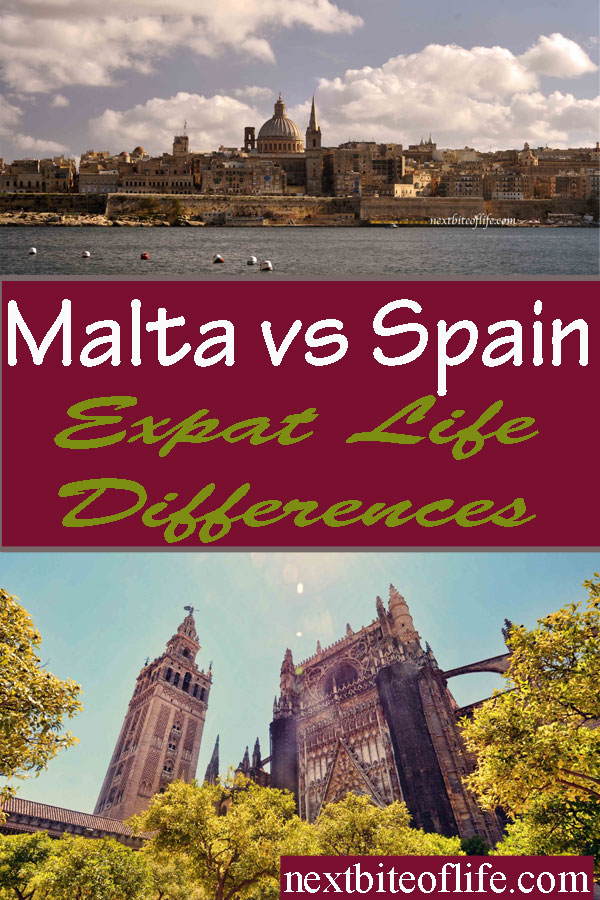 Differences between Malta and Spain #maltalife #spanishlife #spainvsmalta #expatlife #spainexpat #maltaexpat