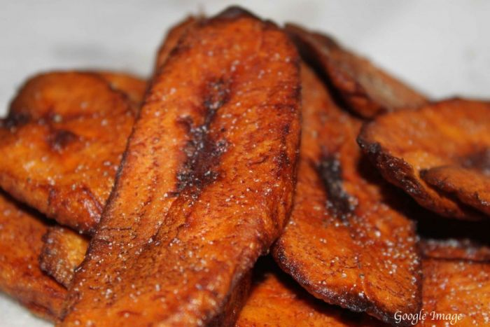 7 random things about me. love plantain like seen in a plate here