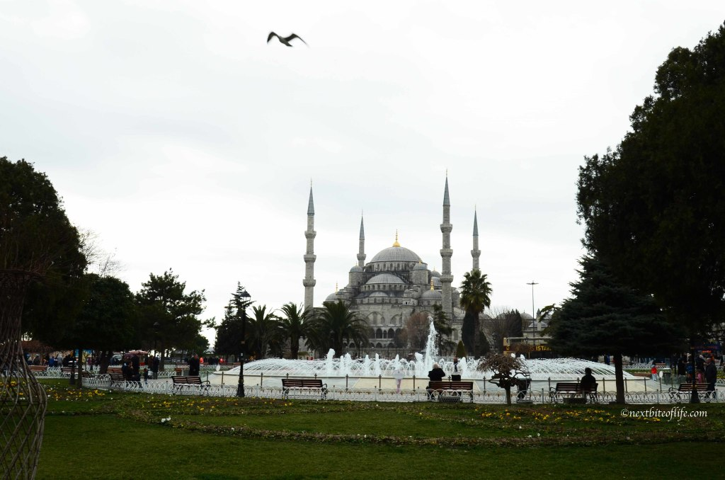 blue mosque sultan ahmet in istanbul turkey