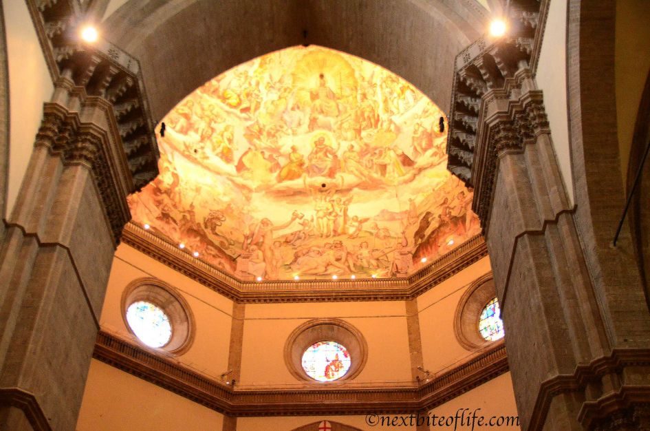 Incredible workmanship Duomo Florence ceiling..