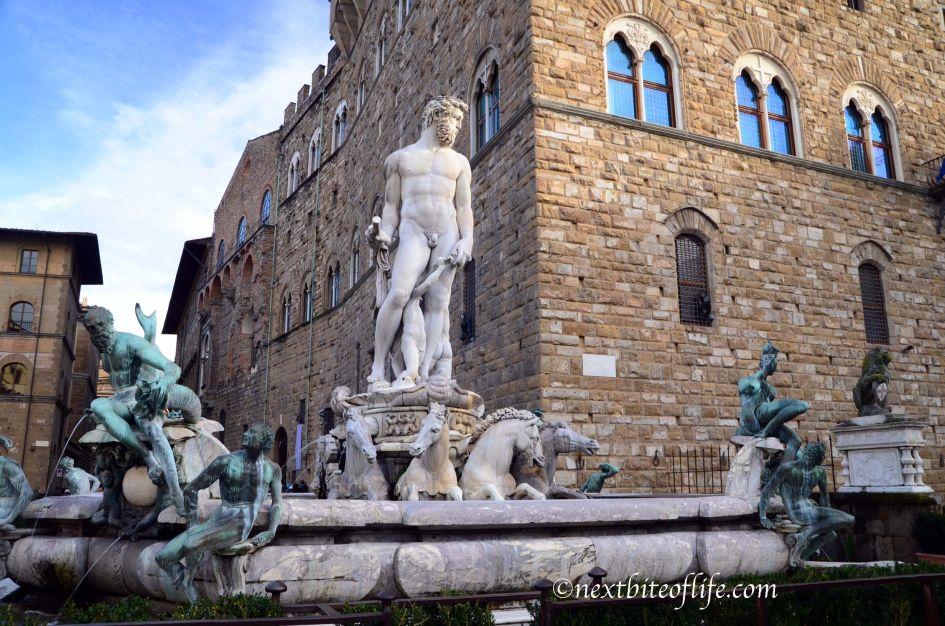 plaza de la signora Florence Italy Neptune fountain