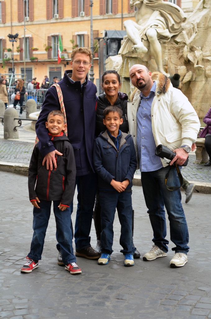 Jed, his family and the hubby