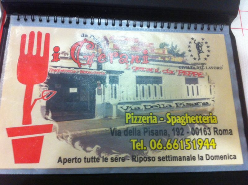 image of I Girani da Peppe menu
