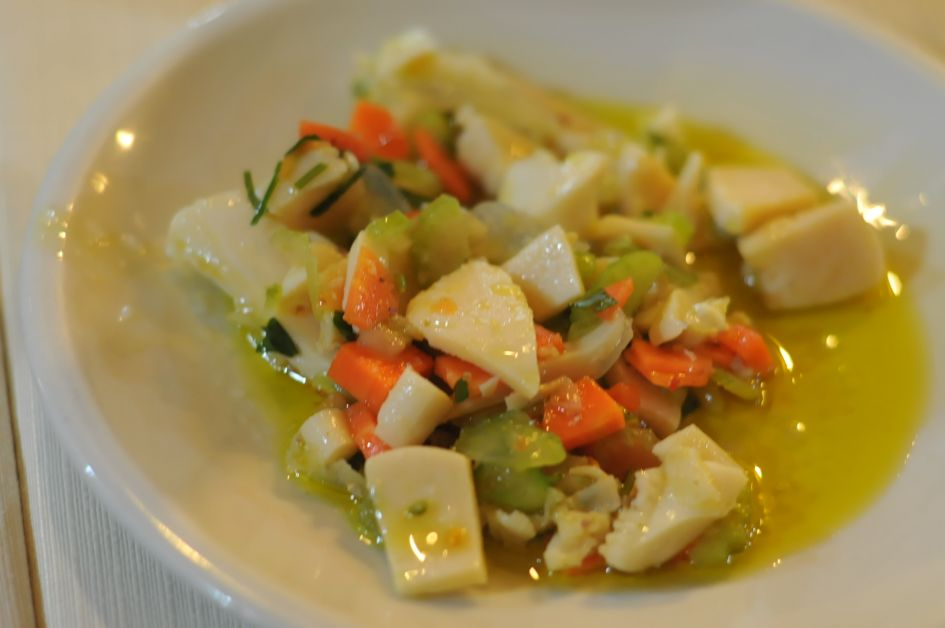 seafood salad at papetto ristorante