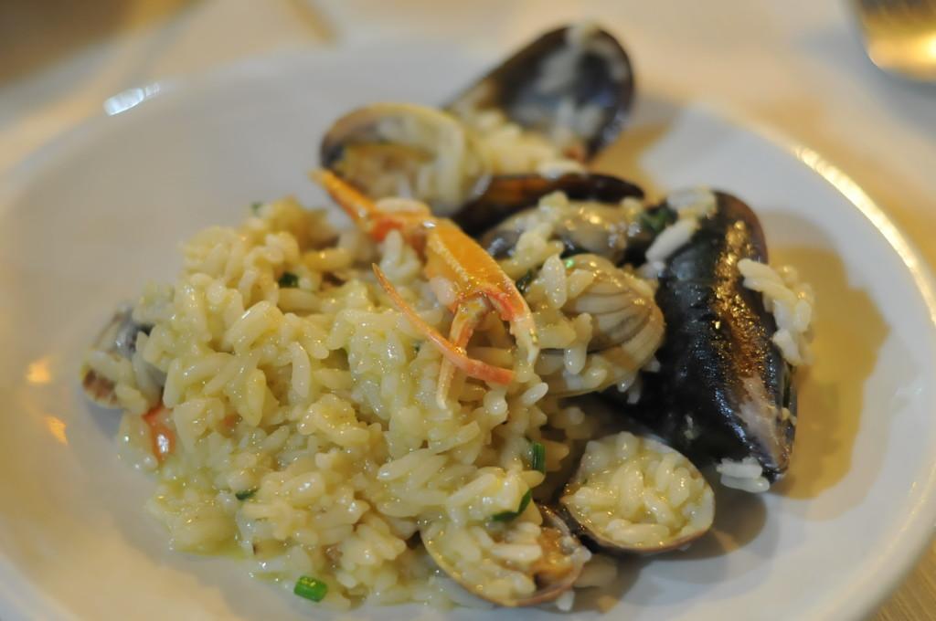 seafood risotto at ristorante papetto