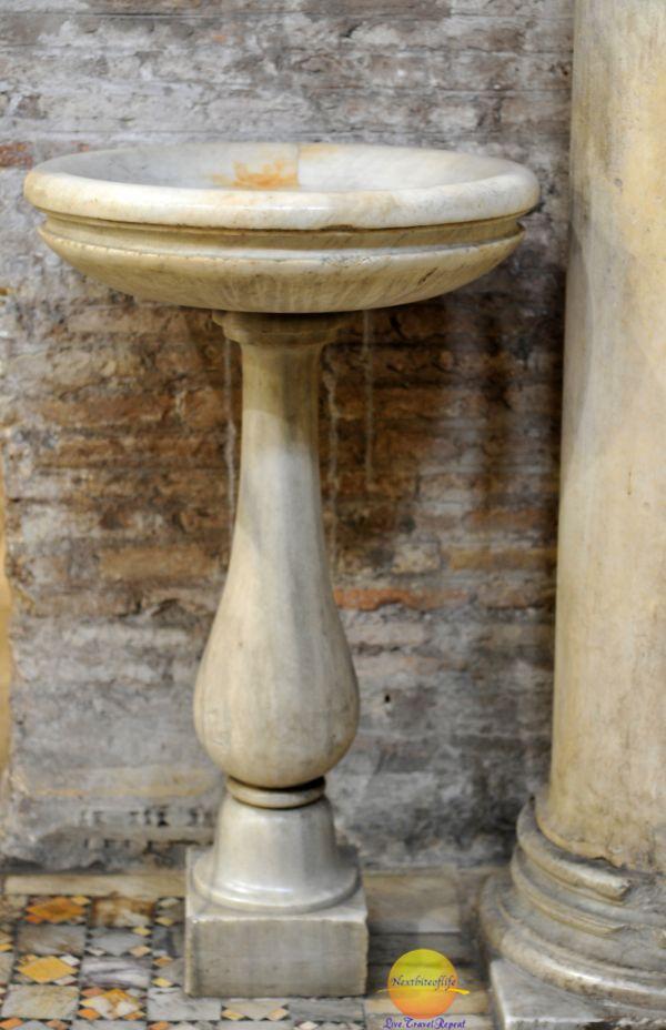 Santa Maria Church, Rome holy water basin cream color