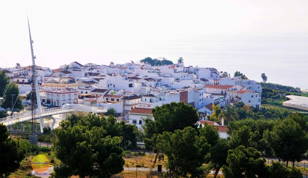 Nerja houses all in white