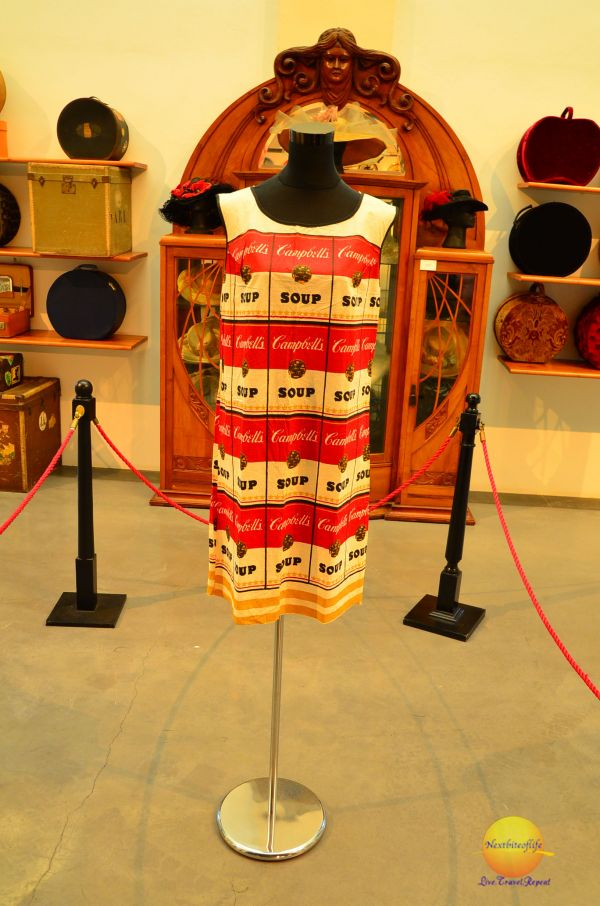 Warhol campbell soup dress in Malaga fashion museum
