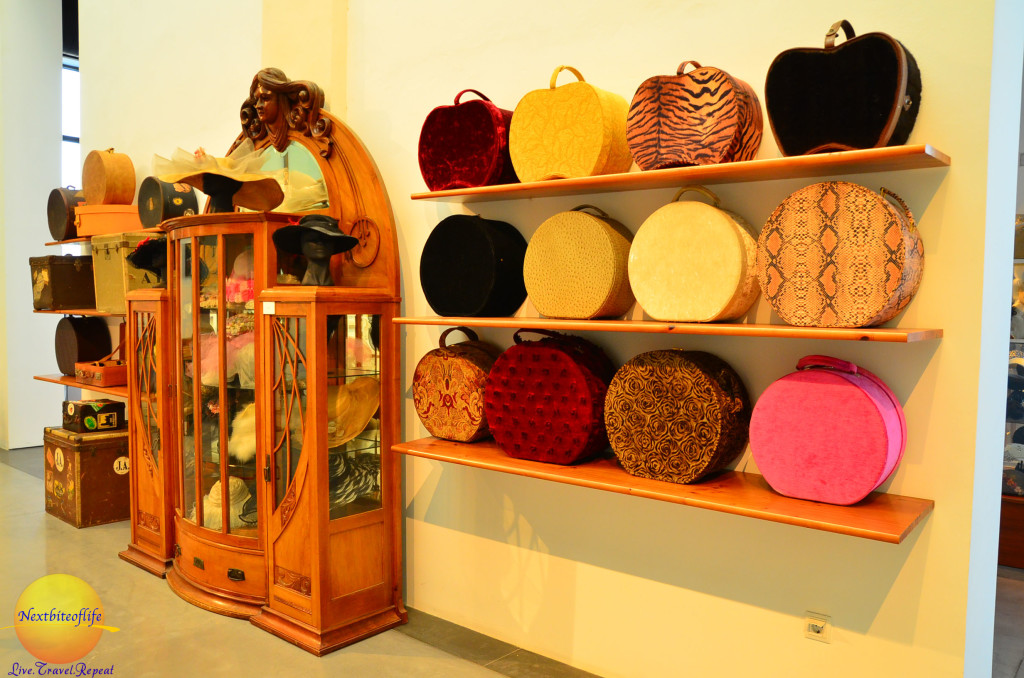 vintage bags and luggage at the car museum malaga