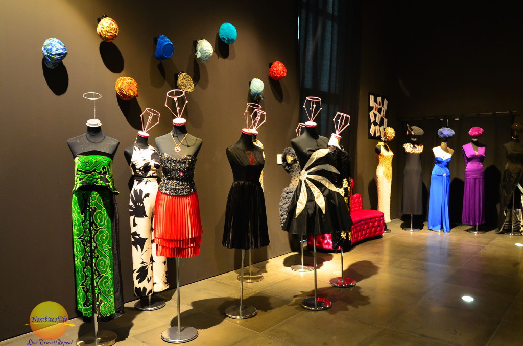 Lovely dresses at malaga fashion museum.