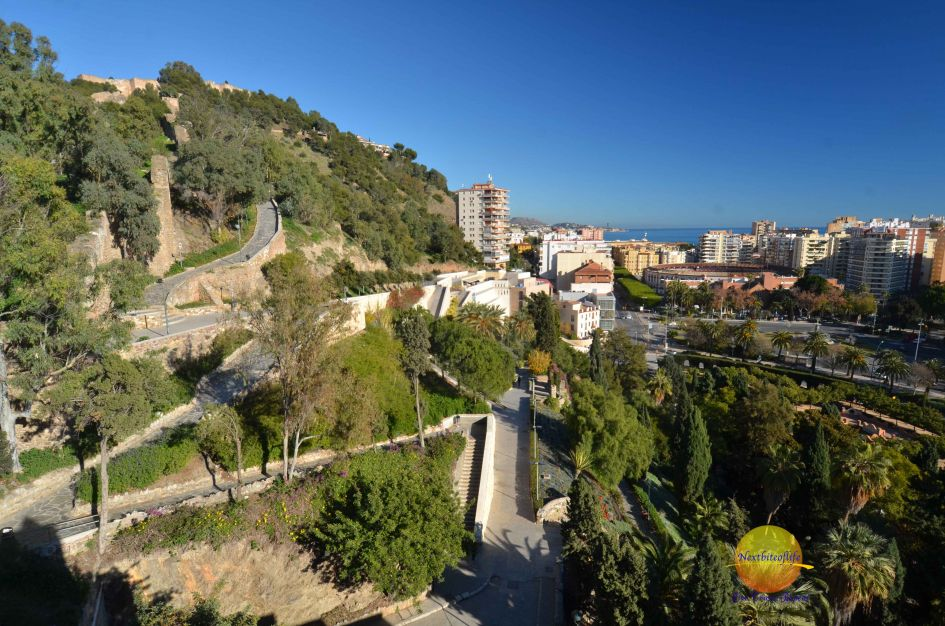 view from the top of Alcazaba and Teatro Romano Malaga