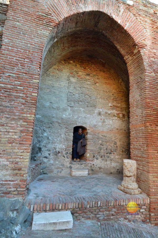 open doorway with me alcazaba malaga