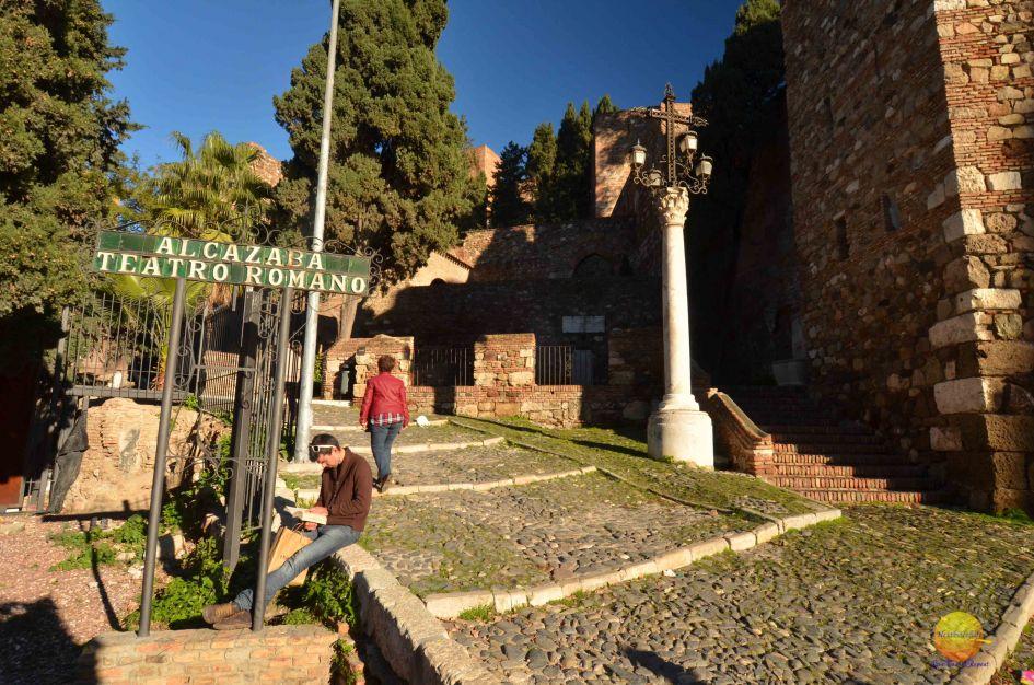 alcazaba and teatro romano malaga entrance