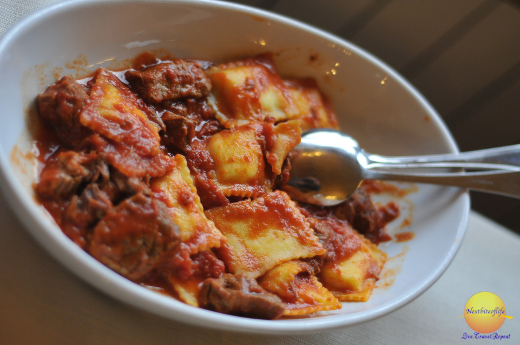 Ravioli with slow cooked meat..yummy!