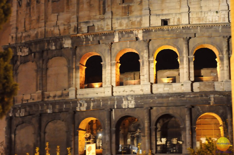 My pathetic attempt at a night shot of the Colosseum.