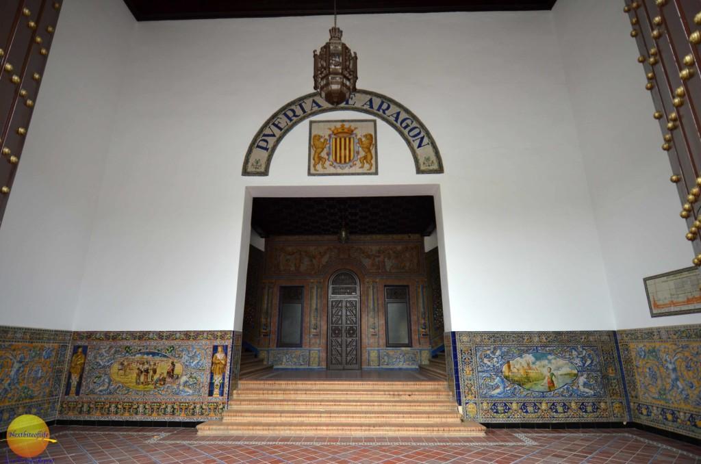 Rear entrance of plaza de espanya seville