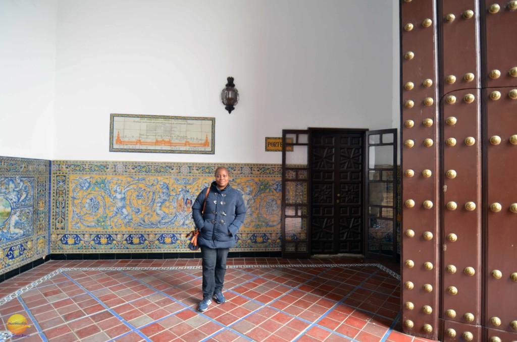 back entrance plaza de espana seville spain