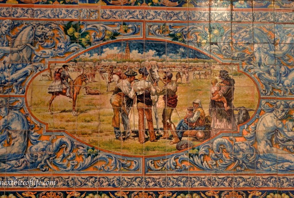 tiles at plaza de espanaya seville