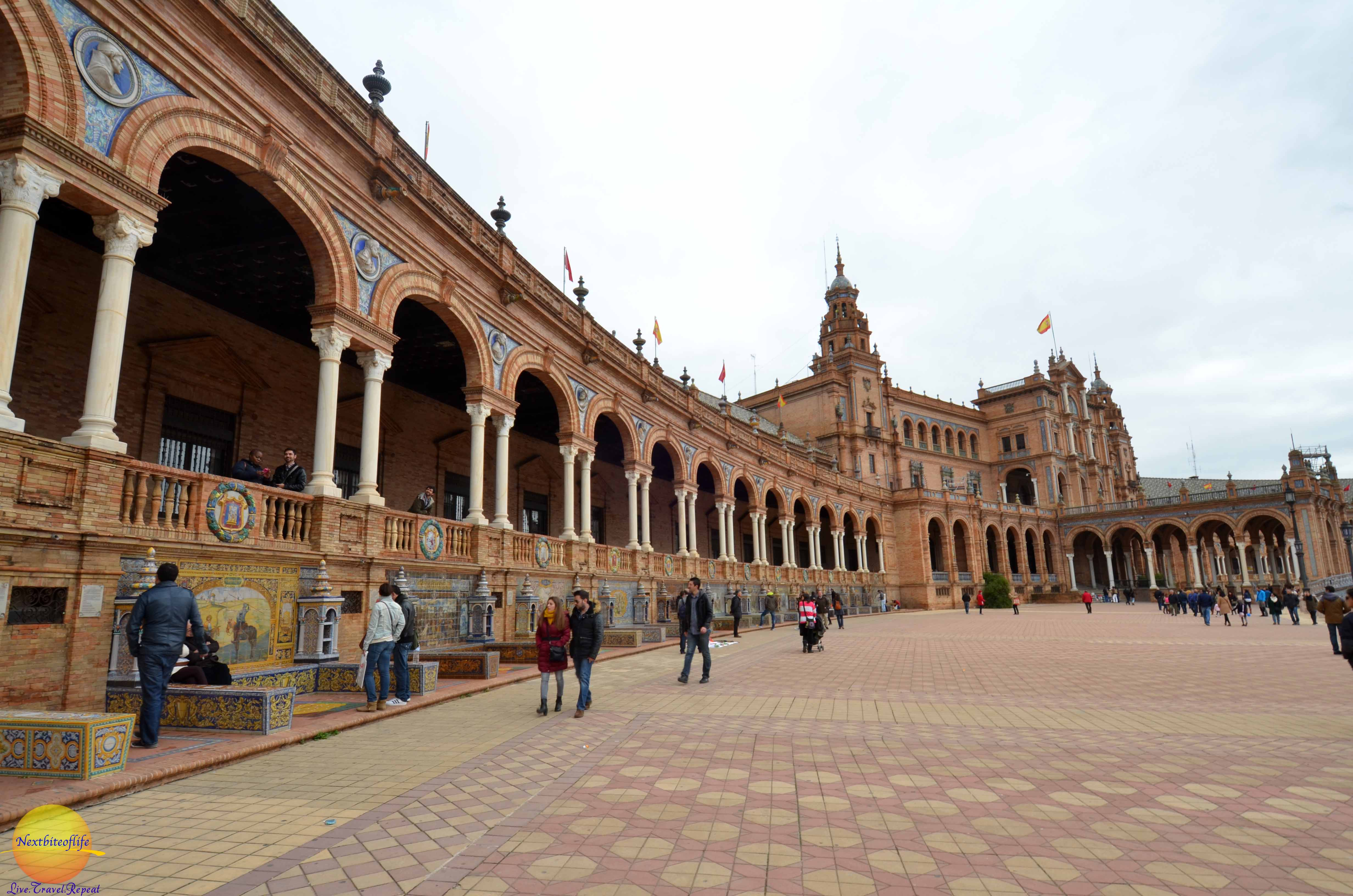 Plaza de Espana in Seville, Spain - Nextbiteoflife