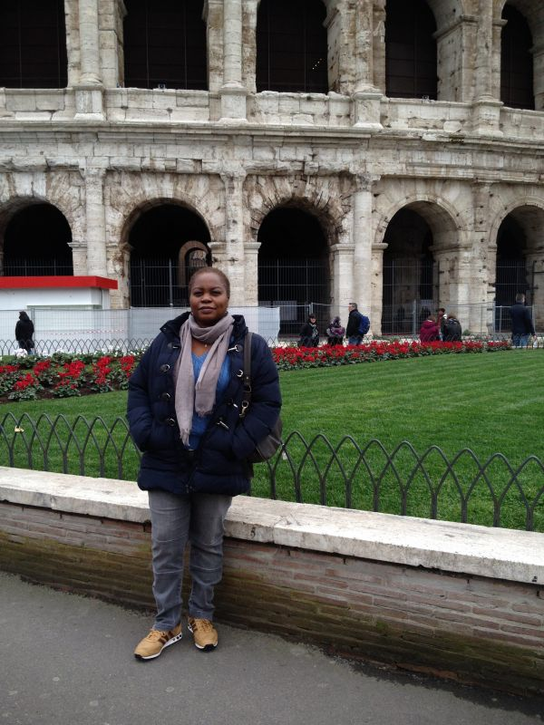 me at rear of colosseum rome