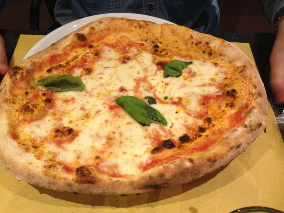 Best pizza in Rome. The Margherita pizza at Pizza Forum Rome..