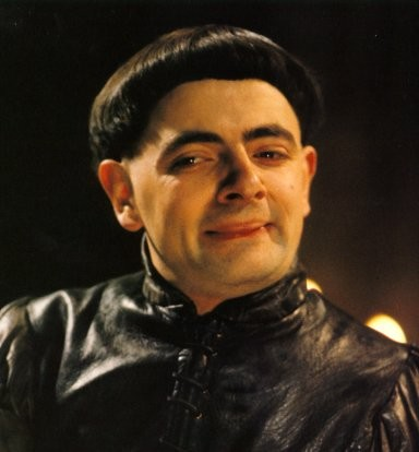 Blackadder 1 with bowl haircut.