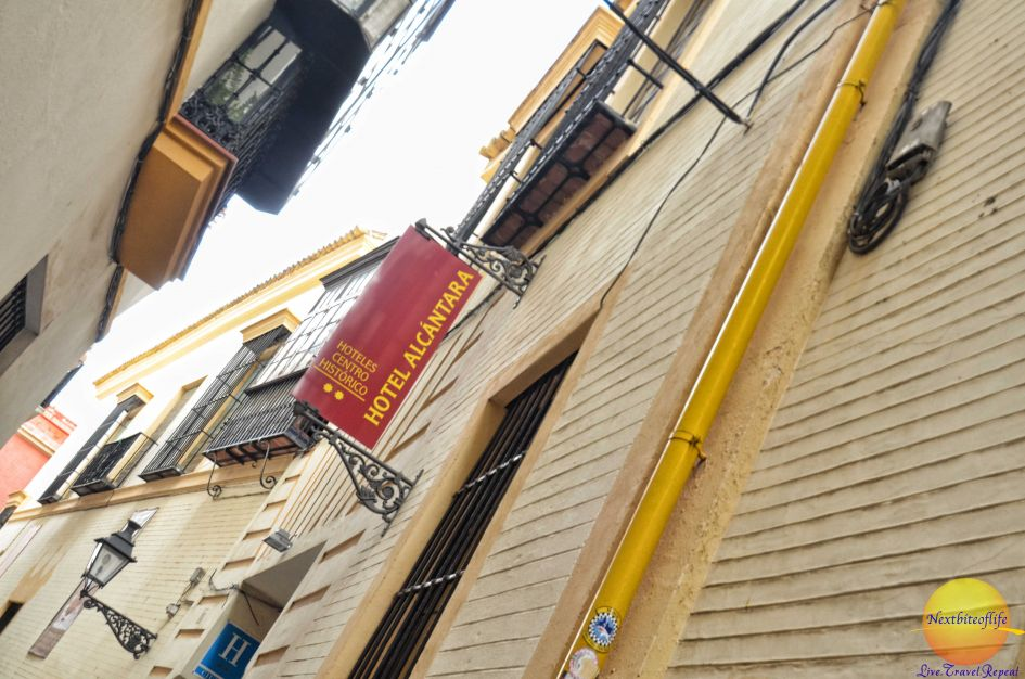 Hotel alcantara seville entrance and sign