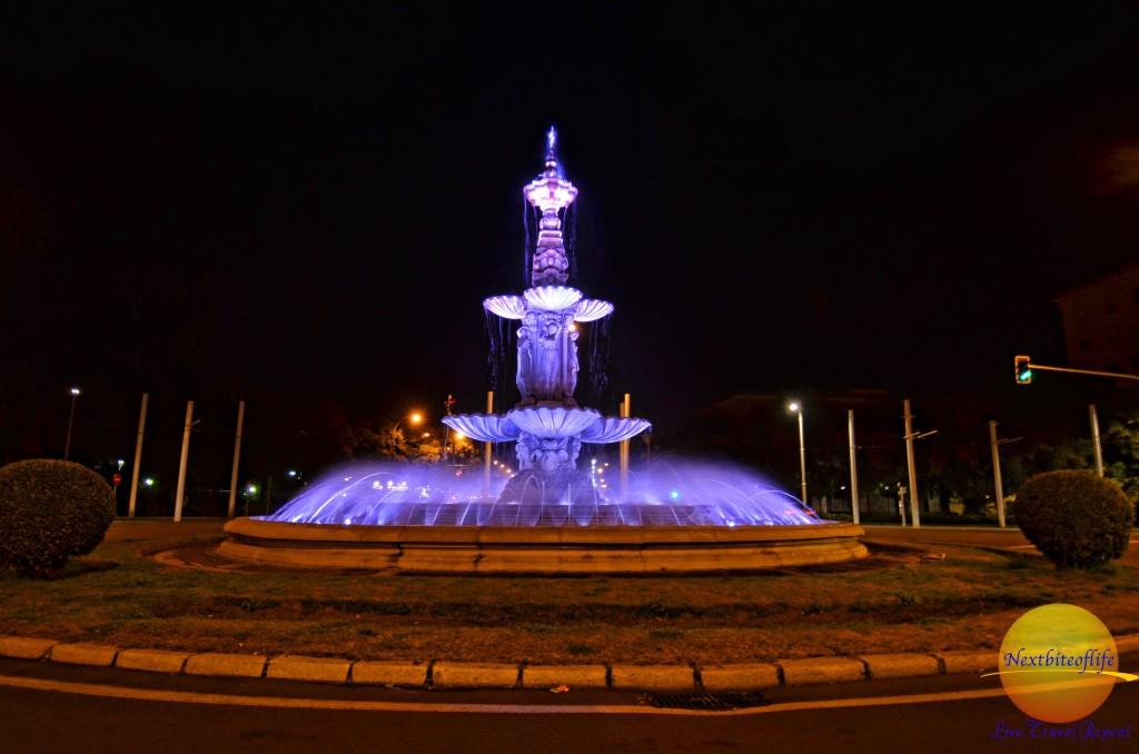 Simple pleasures - night shot seville fountain