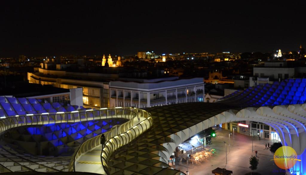 metropol parasol seville night view