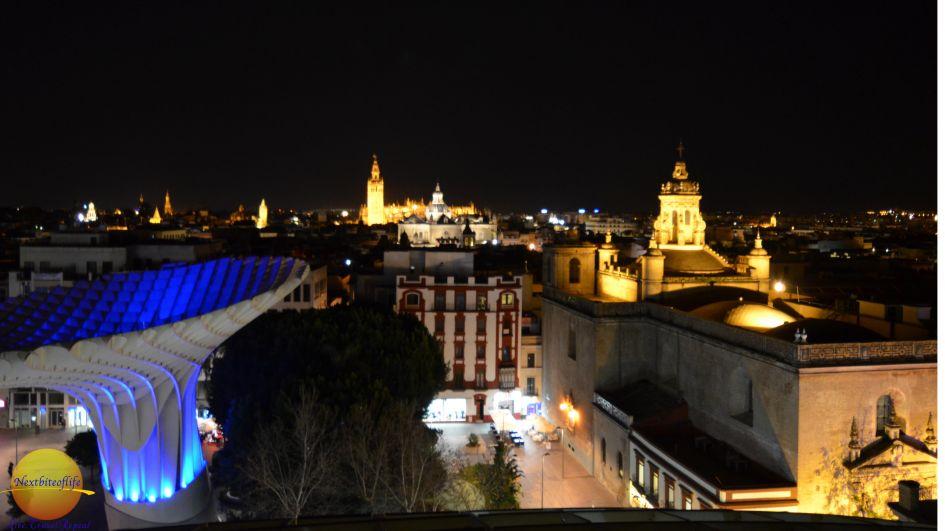 metropol parasol night view