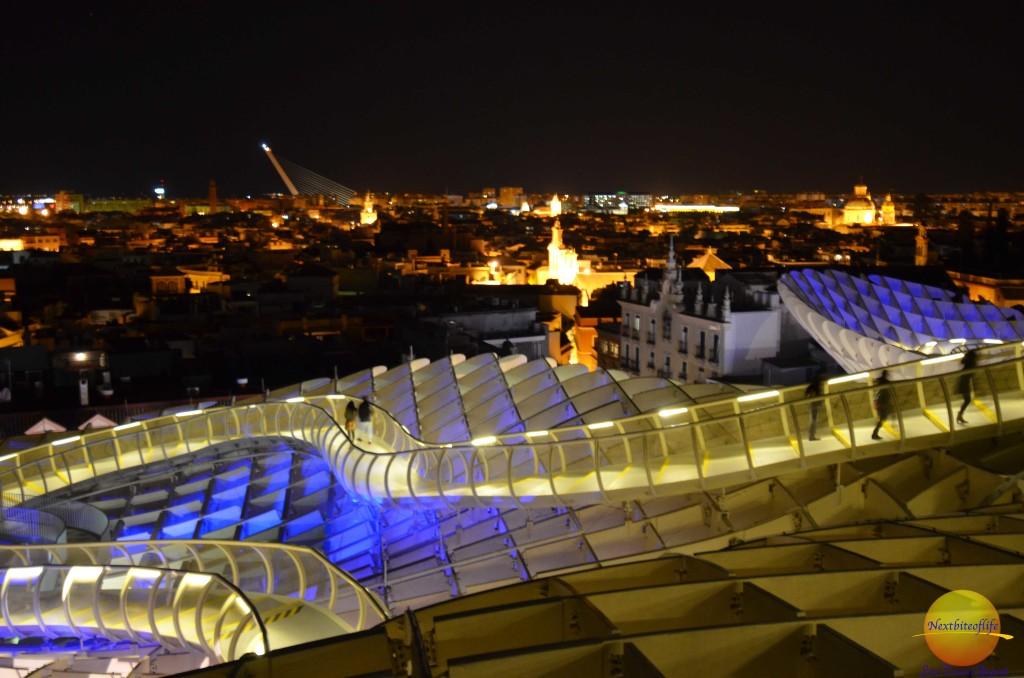 metropol parasol seville night views