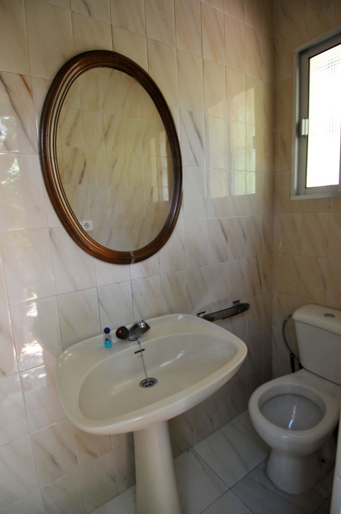 half bathroom in seville rental house
