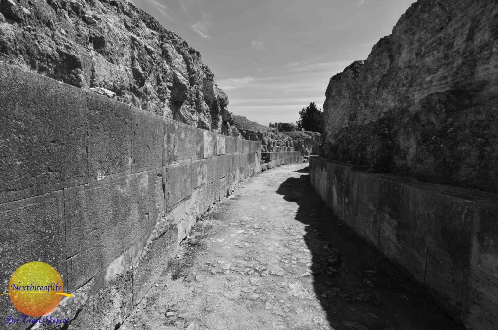 Way to the upper seats at italica ruins
