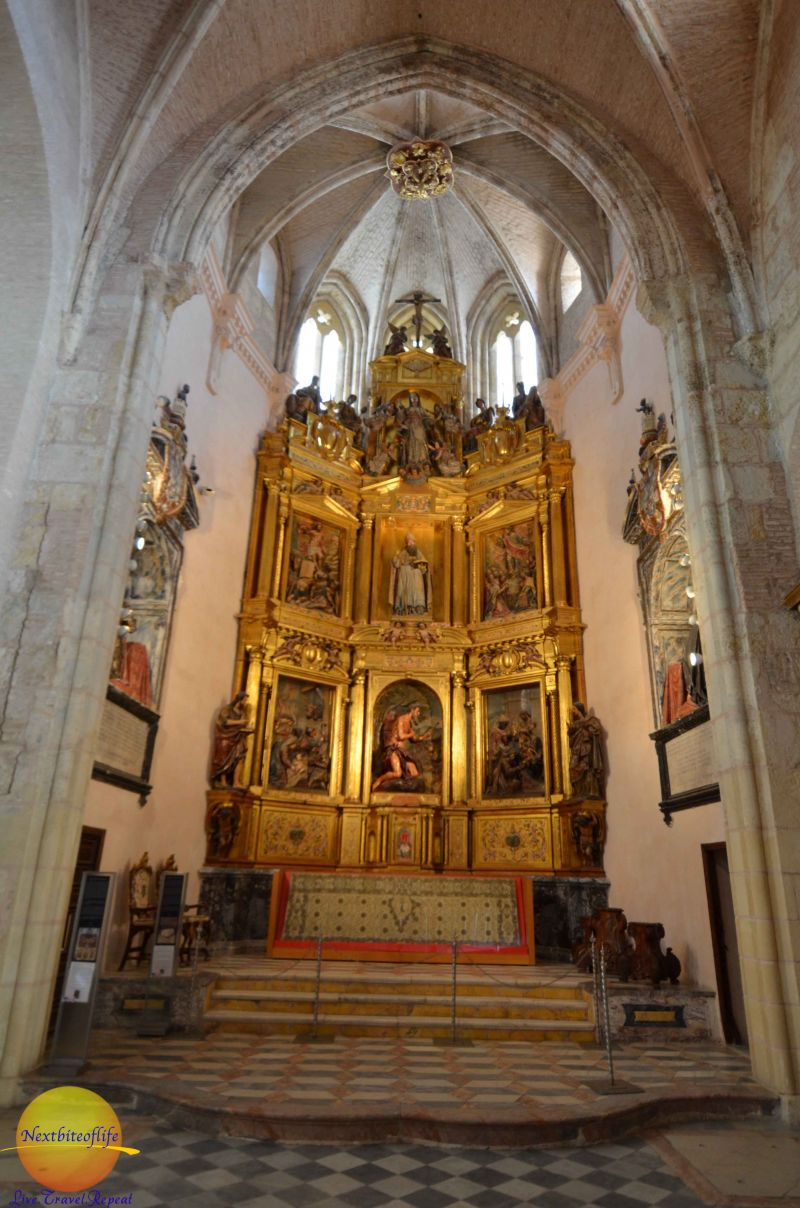 altar at san isidoro monasterio santiponce seville