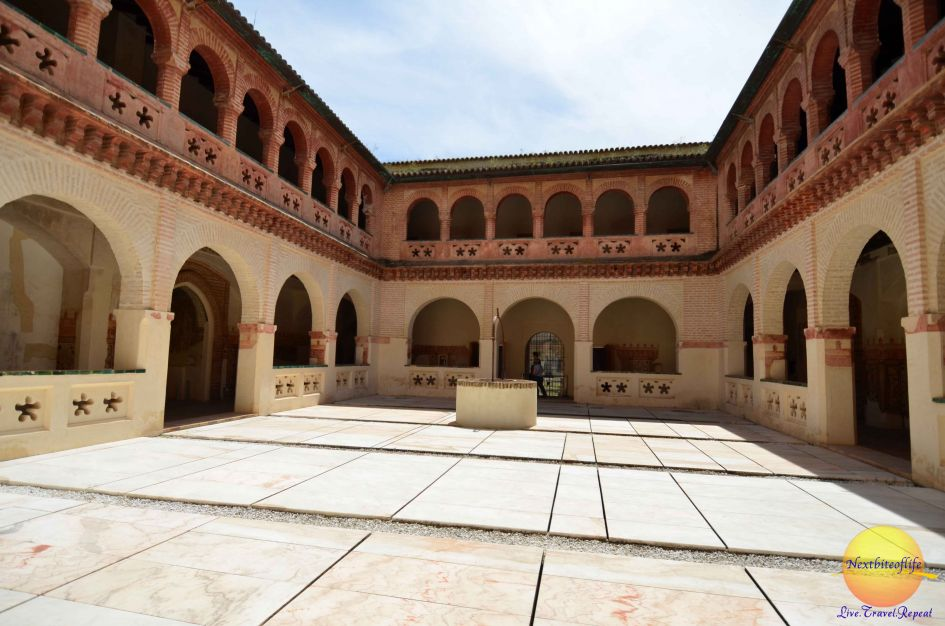courtyard san isidoro monasterio seville santiponce