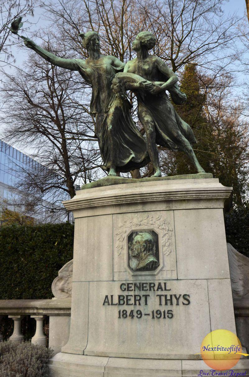 General Albert Thys monument Cinquantenaire Park Brussels