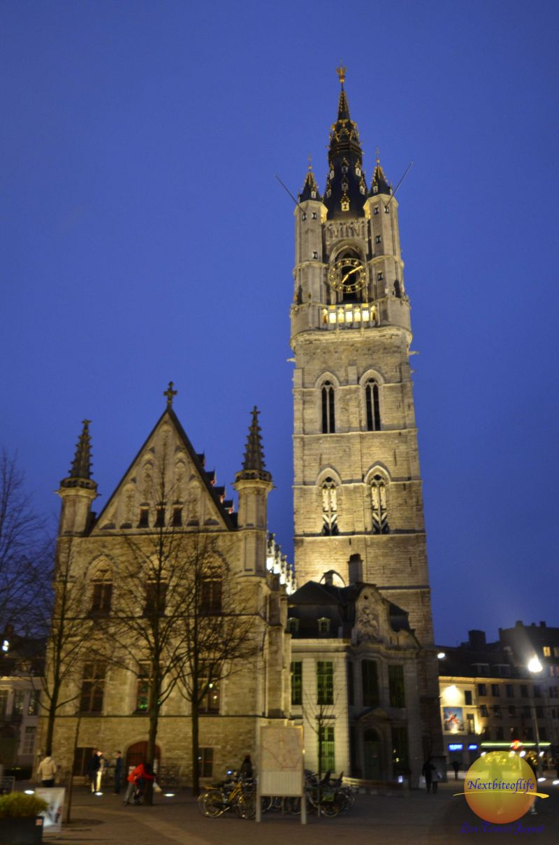 Ghent Bellfry at night view