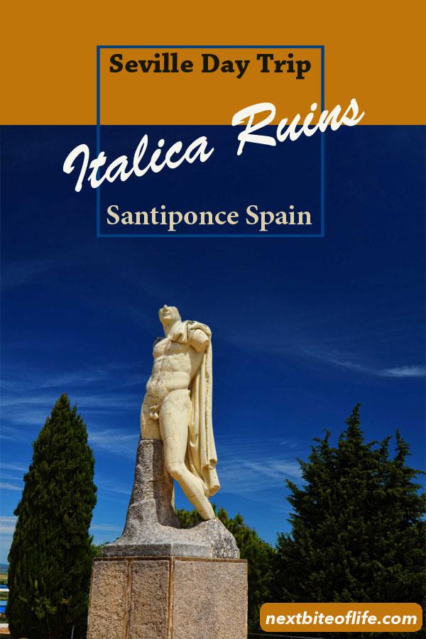 Emperor Hadrian who was born in Santiponce, Seville #hadrian #emperor #seville #spain #daytripseville #italica #ruins #italicaamphiteater