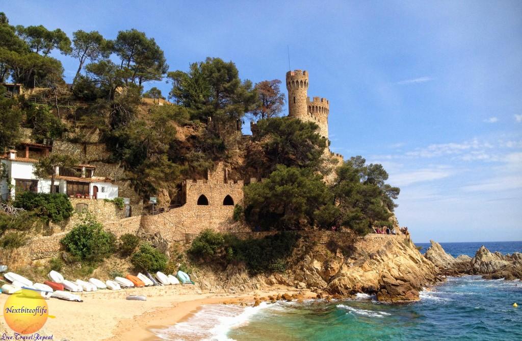 lloret de mar d'en plaja castle