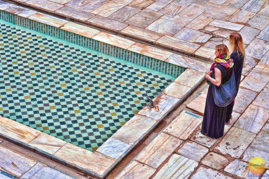 Marrakesh Ben Youssef Madrasa courtyard