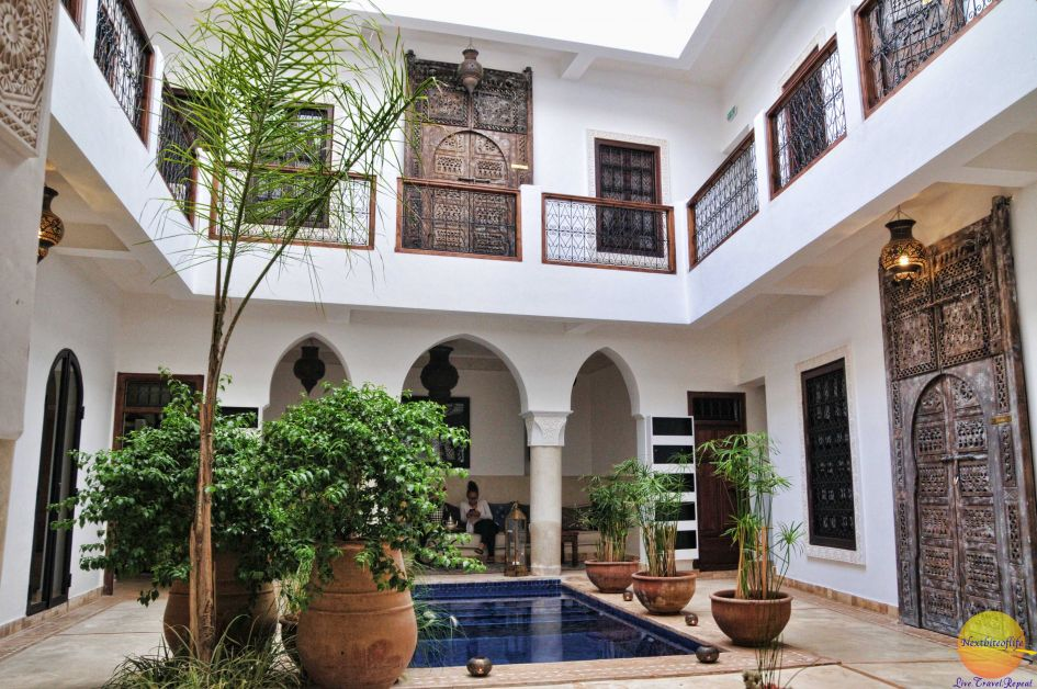 Our Riad on our Marrakech visit - small and cosy, just perfect.