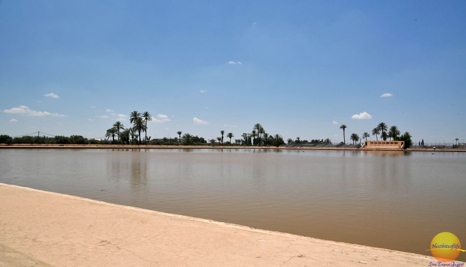 Marrakesh Menara Gardens reservoir