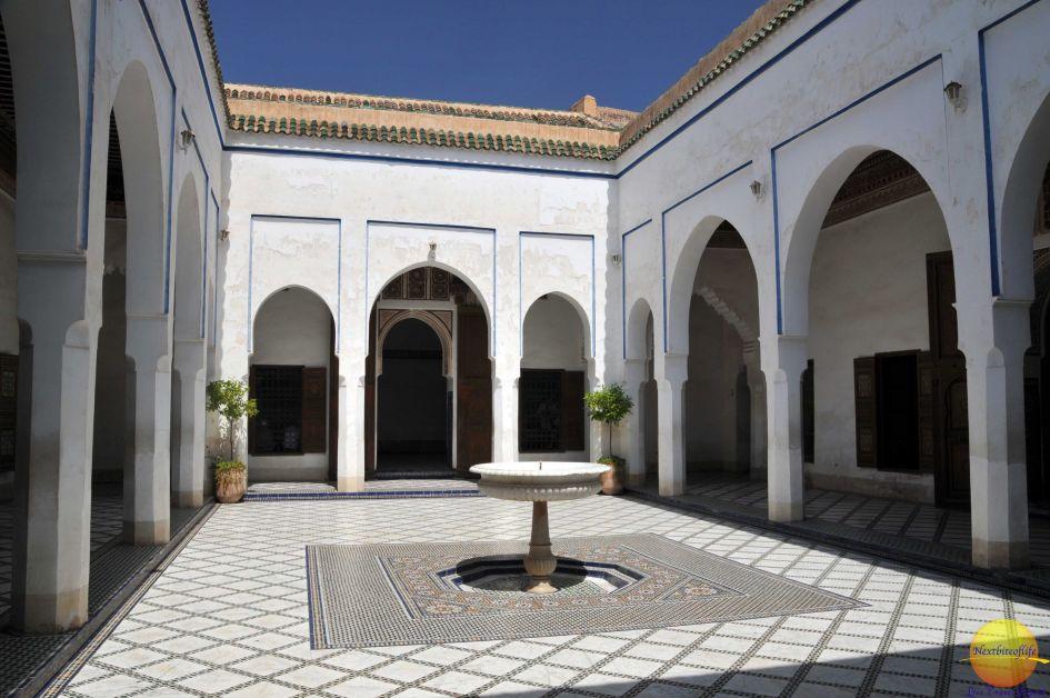 Bahia Palace courtyard in Marrakesh