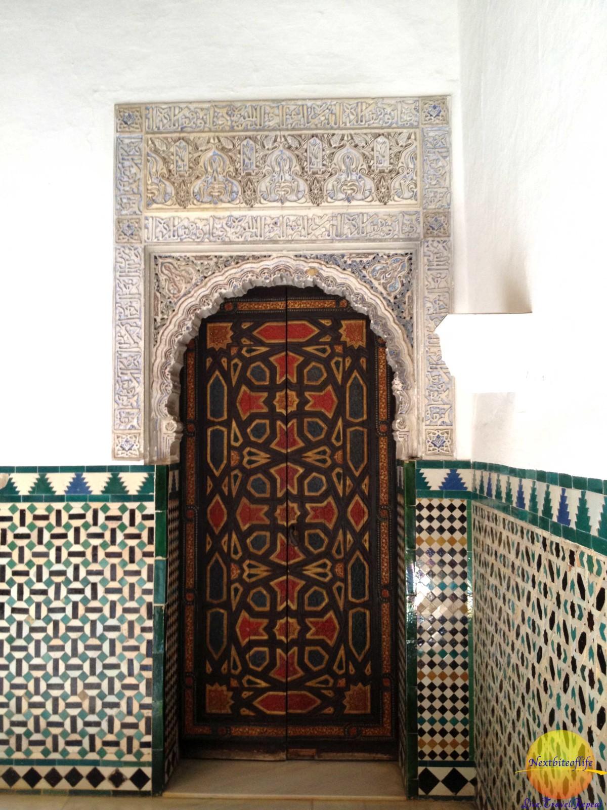 door detaill royal alcazar seville