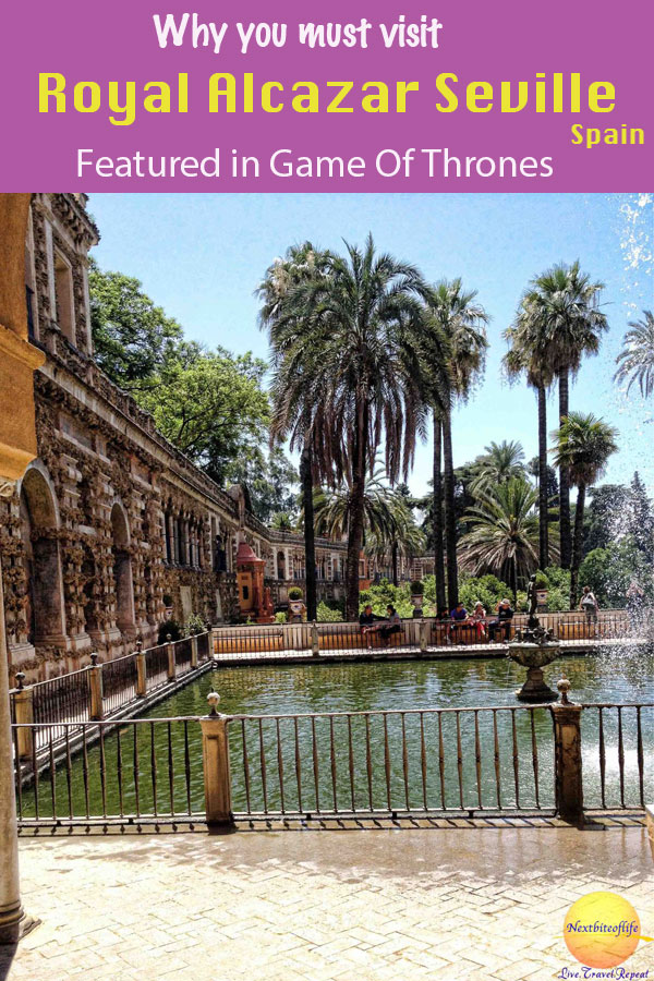 Royal Alcazar of Seville as featured in GOT #Seville #spain #royalalcazar #royalpalace #sevillaalcazar #sevilla #GOT #mudejar #mercurypond
